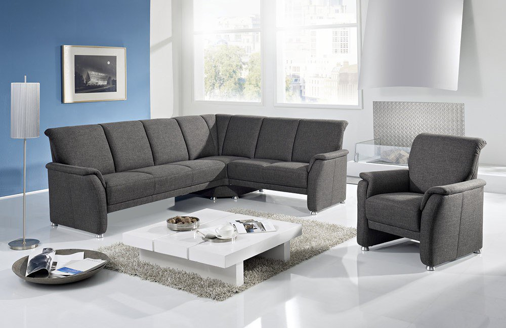 gruber polsterm bel alassio eckgarnitur in grau m bel letz ihr online shop. Black Bedroom Furniture Sets. Home Design Ideas