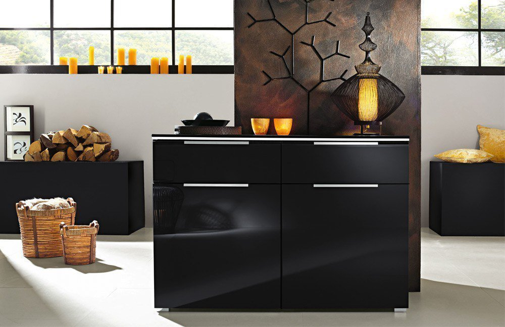 kommode schwarz matt. Black Bedroom Furniture Sets. Home Design Ideas
