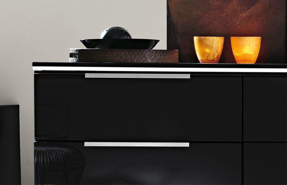 Kommode schwarz matt  Rauch 20up Kommode schwarz matt - Glas | Möbel Letz - Ihr Online-Shop