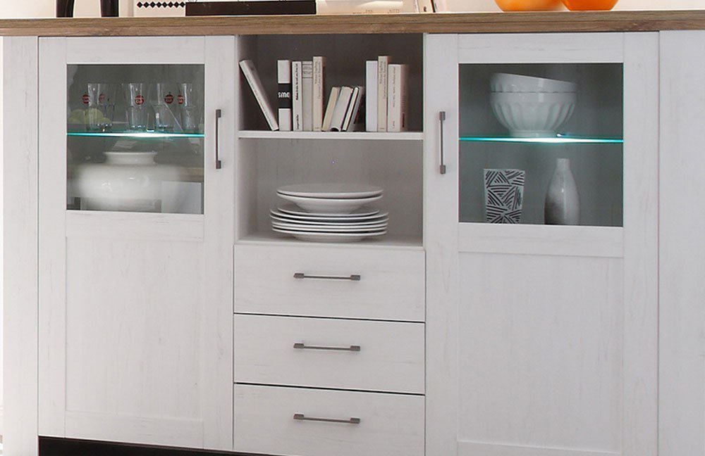 m usbacher highboard country 06473 03 2gl pinie anderson eiche m bel letz ihr online shop. Black Bedroom Furniture Sets. Home Design Ideas