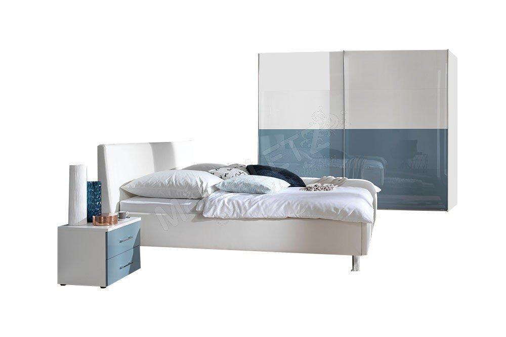 wellem bel schlafzimmer ksw level 2 blau wei m bel letz ihr online shop. Black Bedroom Furniture Sets. Home Design Ideas