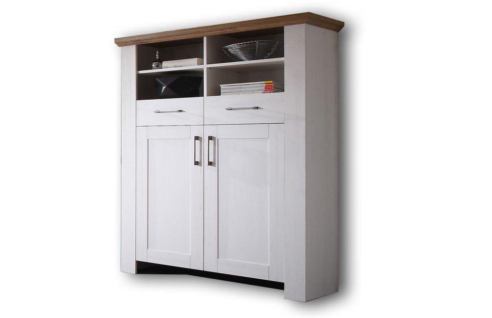 m usbacher highboard country 06474 22 pinie anderson eiche m bel letz ihr online shop. Black Bedroom Furniture Sets. Home Design Ideas