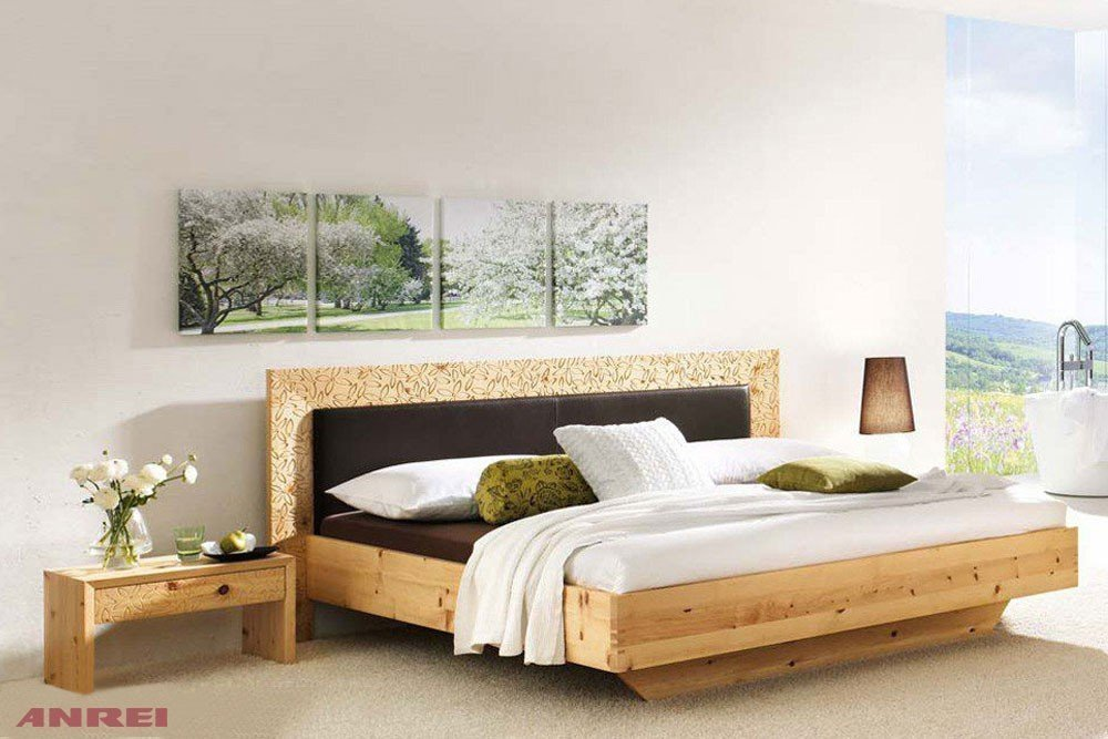 anrei rio ri 150 bett zirbenholz ge lt m bel letz ihr online shop. Black Bedroom Furniture Sets. Home Design Ideas