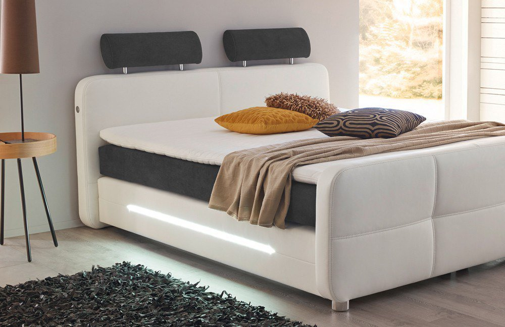jockenh fer gina boxspringbett mit led beleuchtung m bel letz ihr online shop. Black Bedroom Furniture Sets. Home Design Ideas