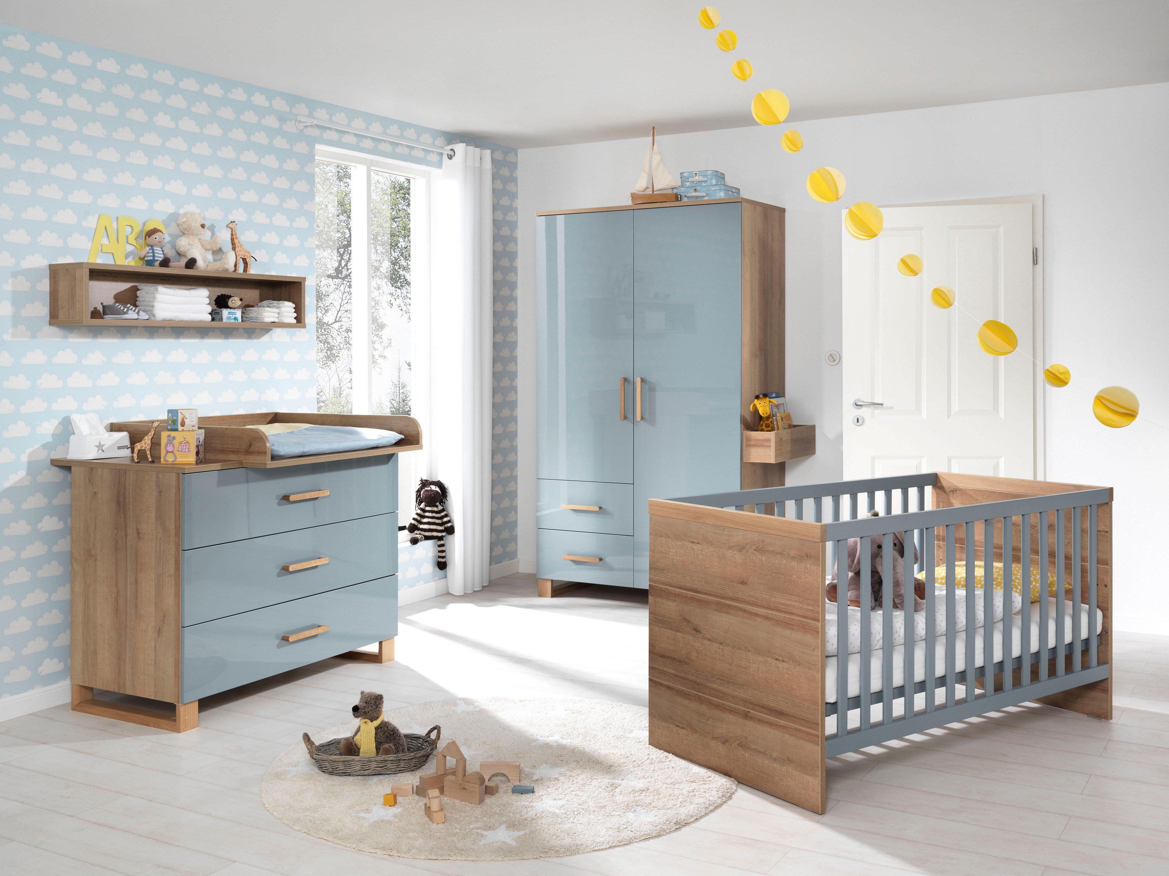 Wellemöbel Babyzimmer Benno blau Eiche | Möbel Letz - Ihr Online-Shop