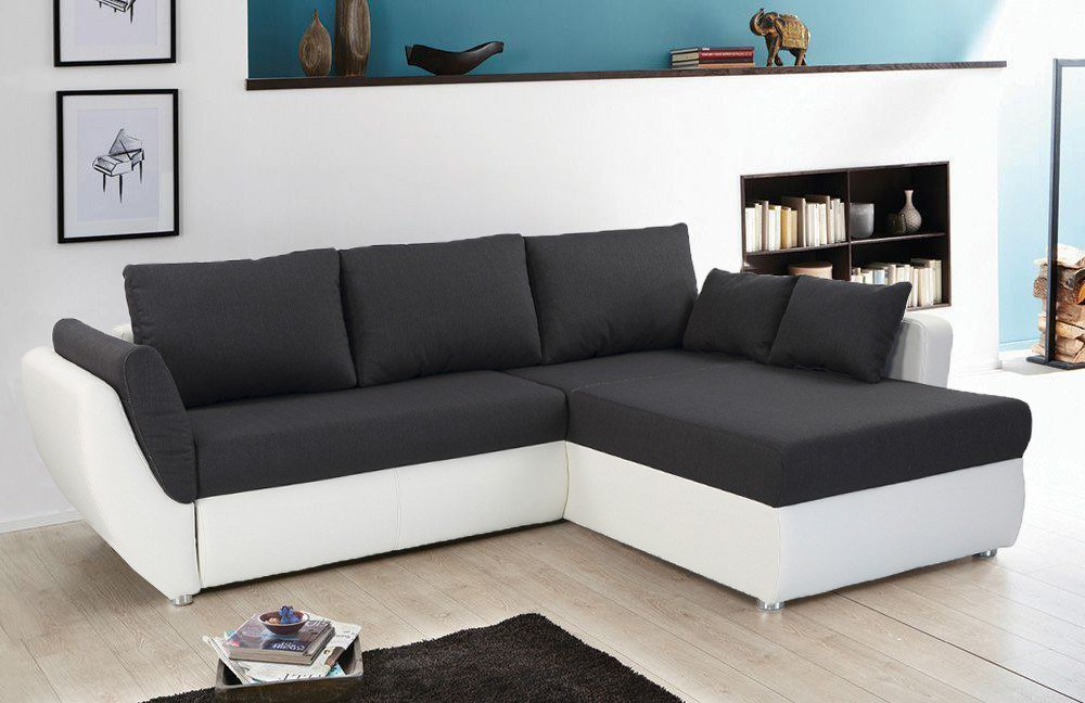 jockenh fer taifun ecksofa dunkelgrau wei m bel letz ihr online shop. Black Bedroom Furniture Sets. Home Design Ideas