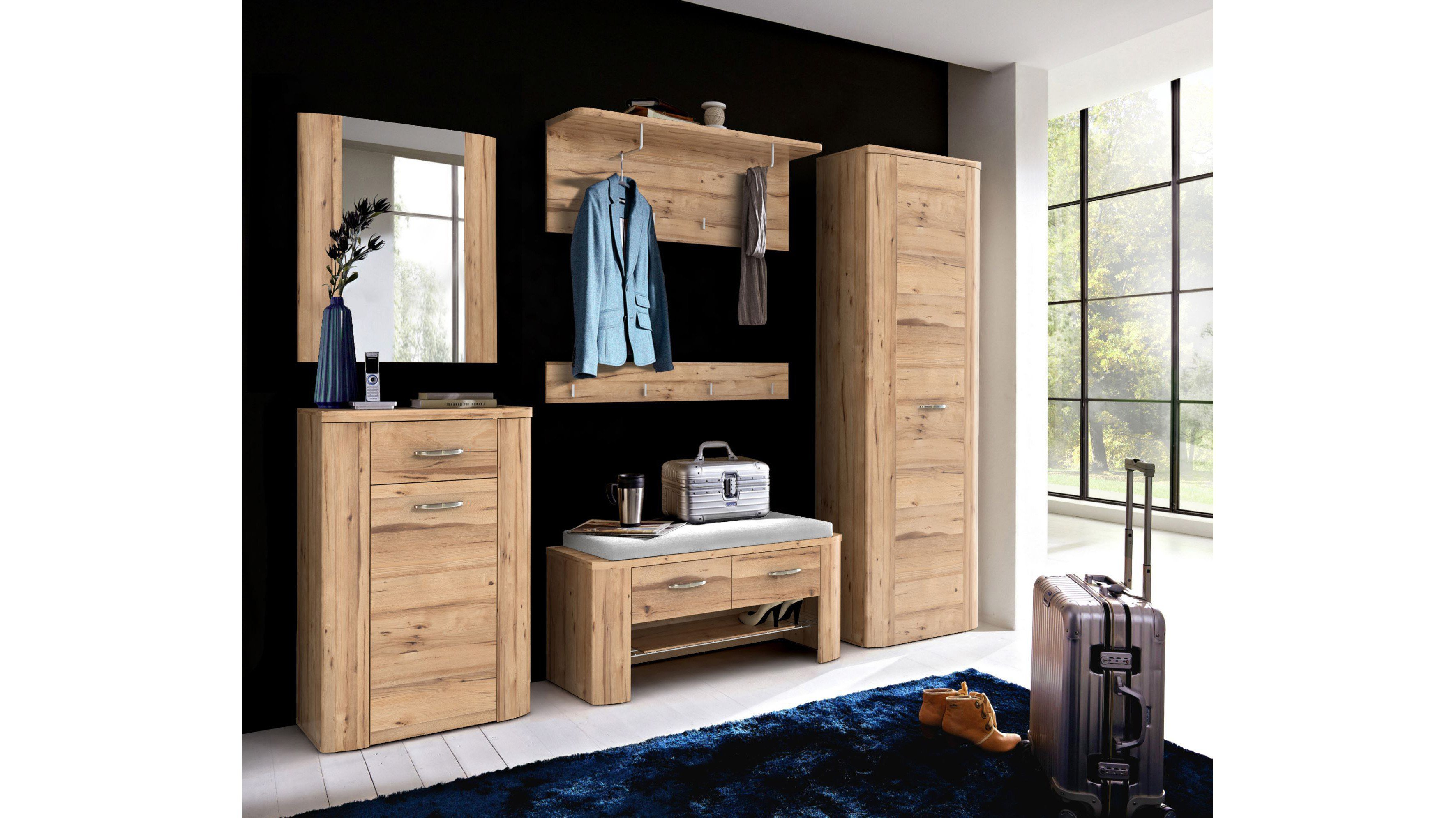 forte garderobe malfa eiche m bel letz ihr online shop. Black Bedroom Furniture Sets. Home Design Ideas