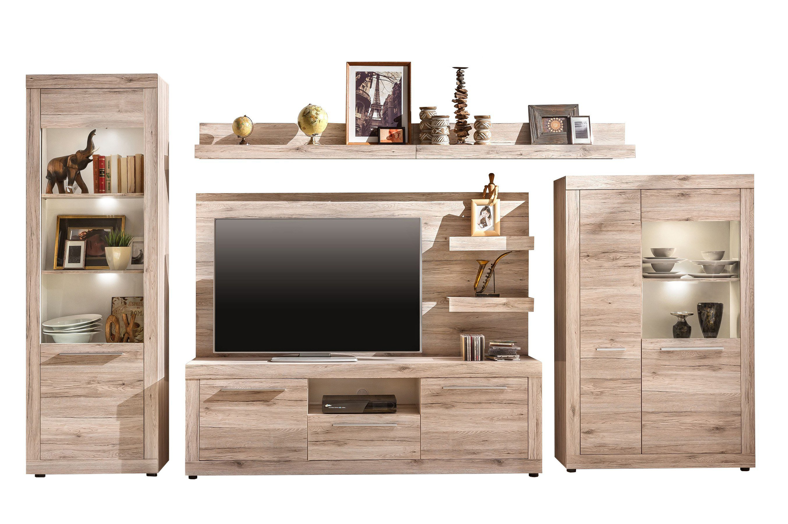 wohnwand passat 1505 971 87 von trendteam m bel letz ihr online shop. Black Bedroom Furniture Sets. Home Design Ideas