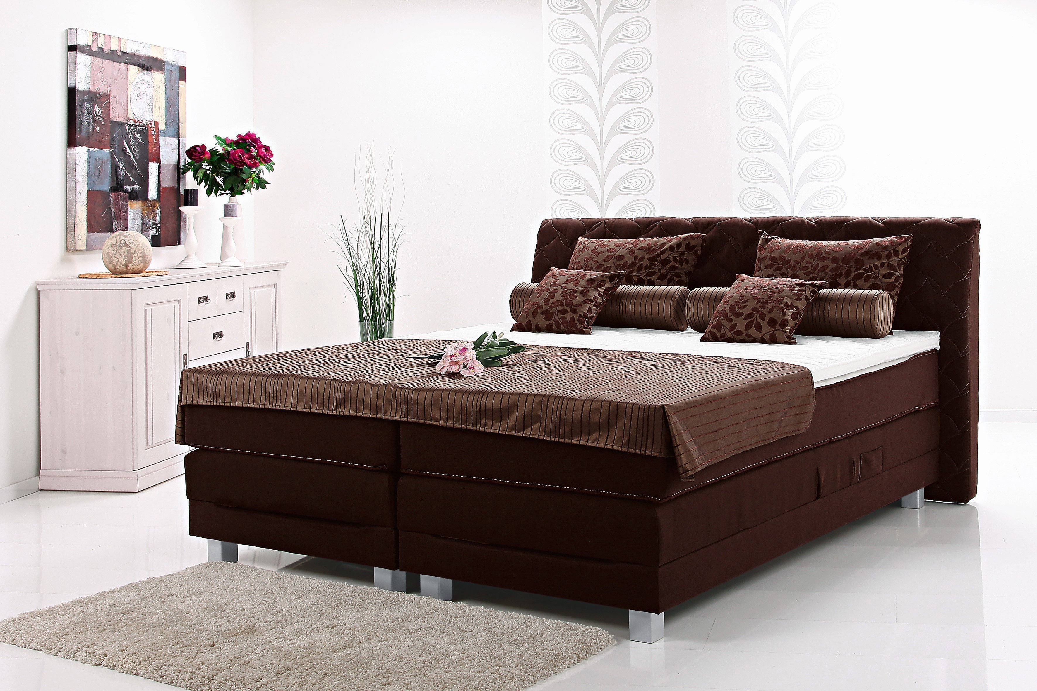 breckle boxspringbett rio merida in braun m bel letz ihr online shop. Black Bedroom Furniture Sets. Home Design Ideas