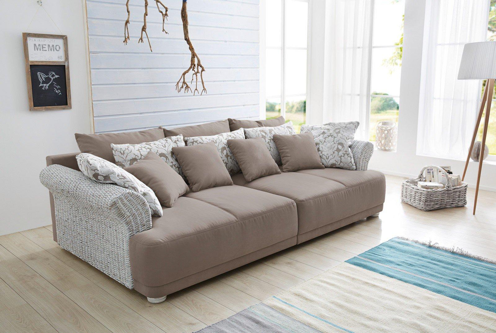 Megasofa braun  Jockenhöfer Ravenna / Rosa Big Sofa braun-beige | Möbel Letz - Ihr ...
