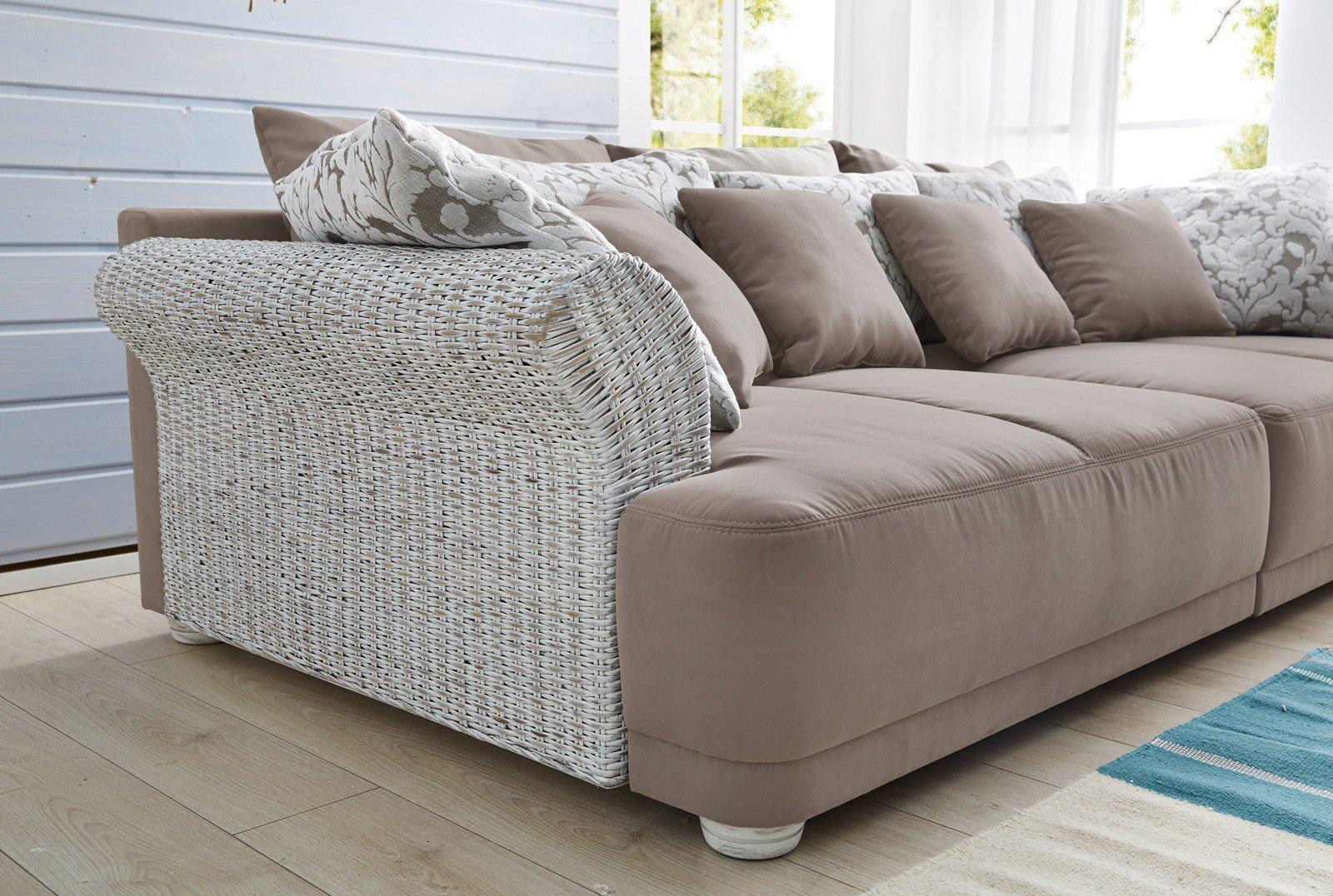 Megasofa braun  Jockenhöfer Ravenna / Rosa Big Sofa braun beige | Möbel Letz - Ihr ...