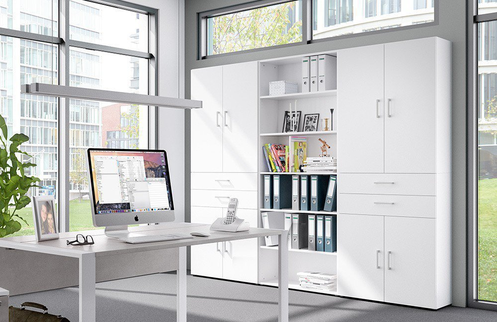 Röhr Büromöbel-Set direct.office weiß/ Beton | Möbel Letz - Ihr ...
