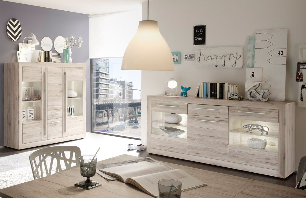 sideboard kansas 1459 872 87 eiche sand von inter furn m bel letz ihr online shop. Black Bedroom Furniture Sets. Home Design Ideas