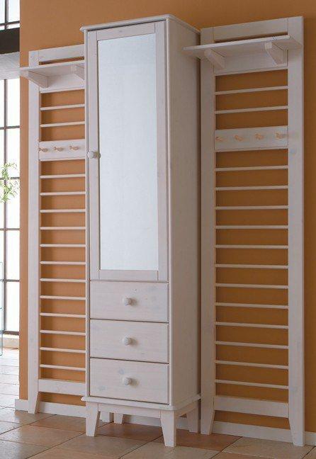 garderobe butler massive kiefer wei von iversen interior m bel letz ihr online shop. Black Bedroom Furniture Sets. Home Design Ideas