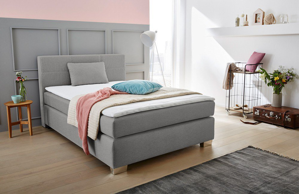 jockenh fer boxspringbett evita in braun beige m bel letz ihr online shop. Black Bedroom Furniture Sets. Home Design Ideas