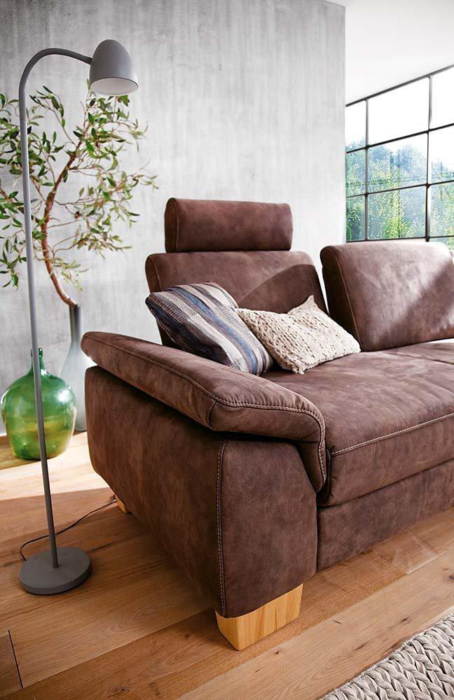 Polsteria Ecksofa Flexi Form in Braun | Möbel Letz - Ihr Online-Shop
