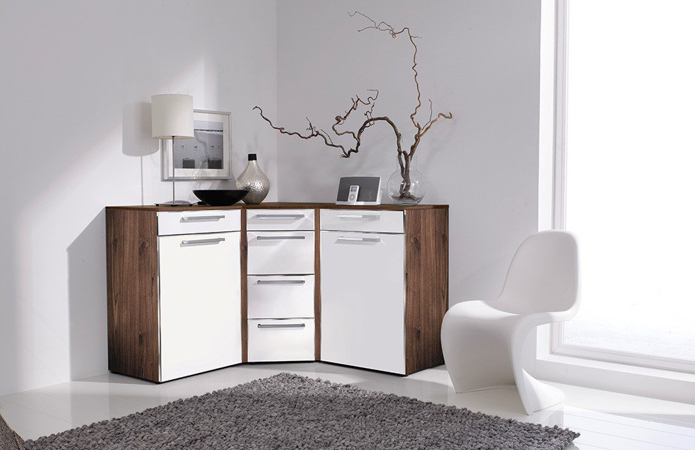 wohnzimmer weis nussbaum. Black Bedroom Furniture Sets. Home Design Ideas