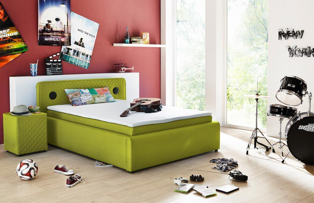 kollektion letz boxspringbett beat in gr n m bel letz ihr online shop. Black Bedroom Furniture Sets. Home Design Ideas