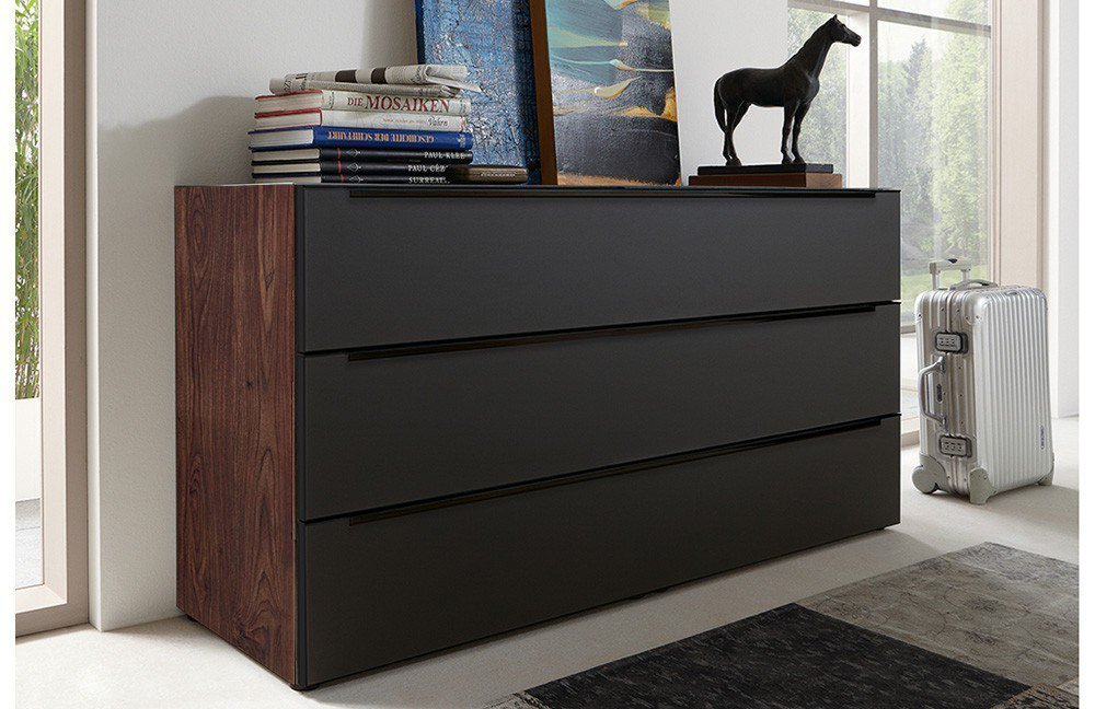 kommode nussbaum schwarz ihr traumhaus ideen. Black Bedroom Furniture Sets. Home Design Ideas
