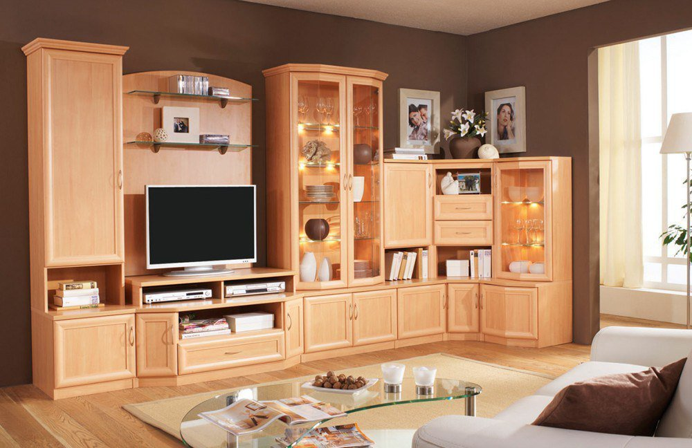 Wohnzimmer kirschbaum beautiful wohnzimmer design modern for Wohnwand kirschbaum modern