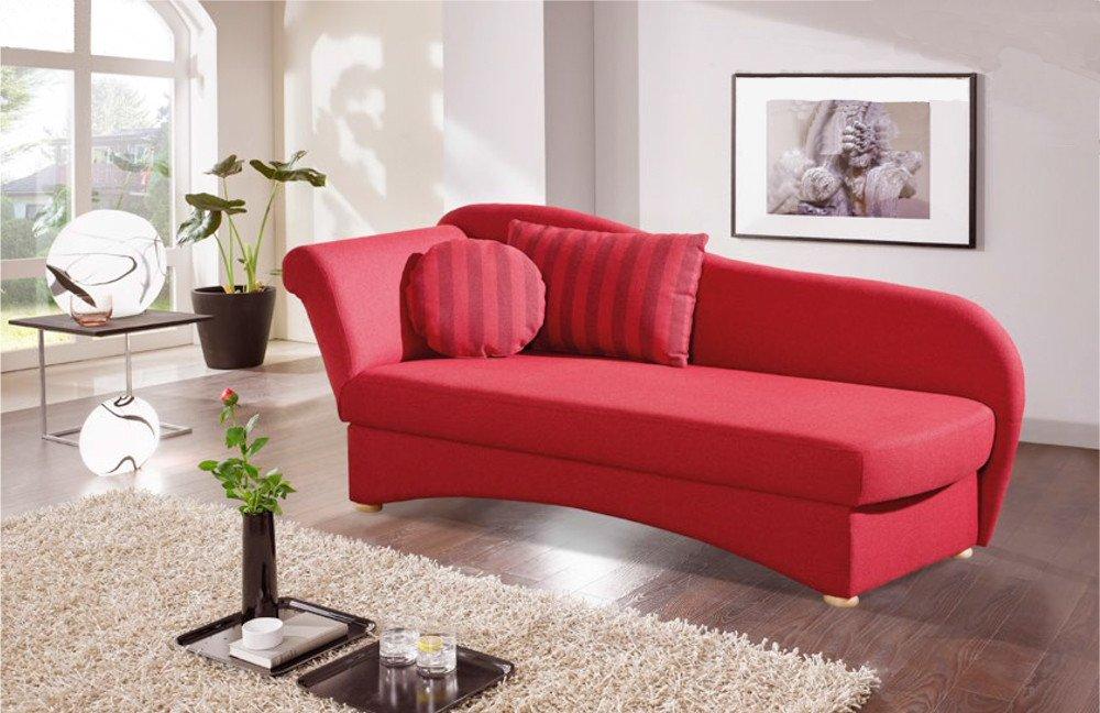Restyl natascha einzelliege rot l m bel letz ihr online shop for Schlafcouch rot