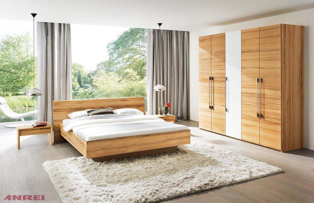 ANREI Tesso Schlafzimmer Kernbuche/ weiß | Möbel Letz - Ihr Online-Shop
