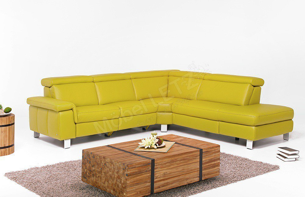 polsteria steinpol motion 2 ledergarnitur lemon m bel letz ihr online shop. Black Bedroom Furniture Sets. Home Design Ideas
