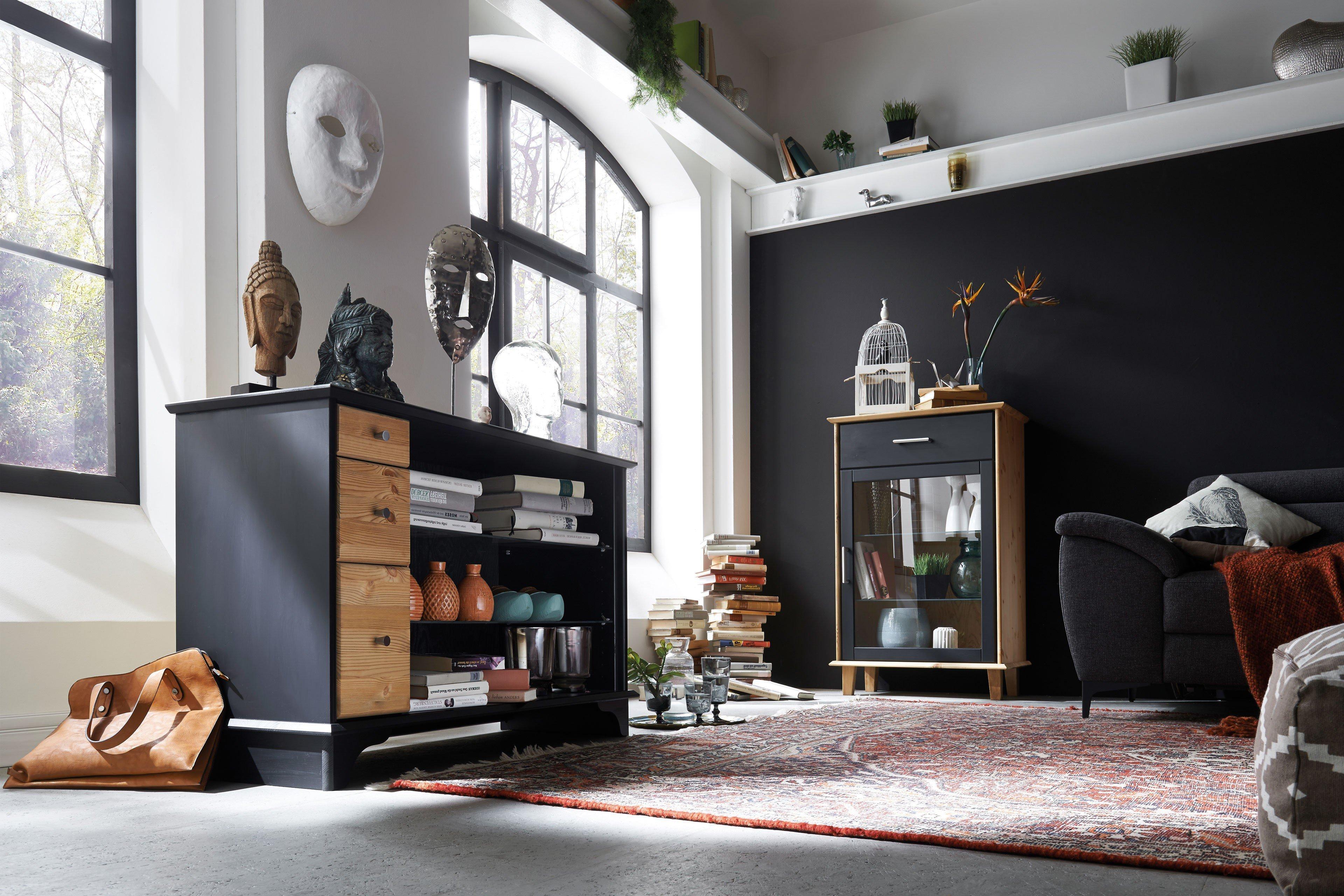 ultima von iversen interior sideboard kiefer schwarz gelaugt