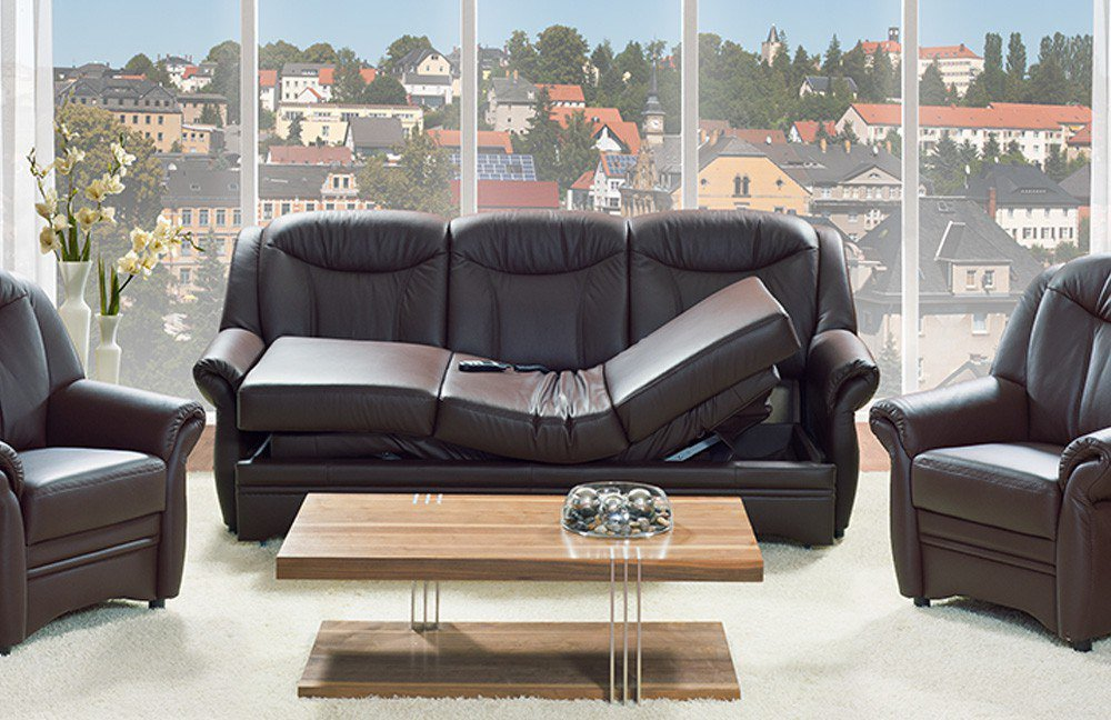 pm oelsa gera polstergruppe in dunkelbraun m bel letz ihr online shop. Black Bedroom Furniture Sets. Home Design Ideas