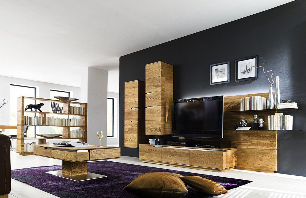 wohnwand acerro ac 76795 asteiche massiv von wimmer. Black Bedroom Furniture Sets. Home Design Ideas
