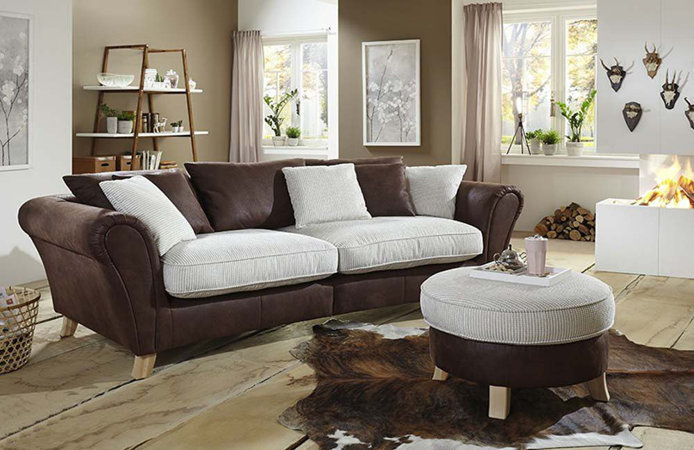 Sit More Home Basic Calia Big Sofa Braun Creme Möbel Letz Ihr
