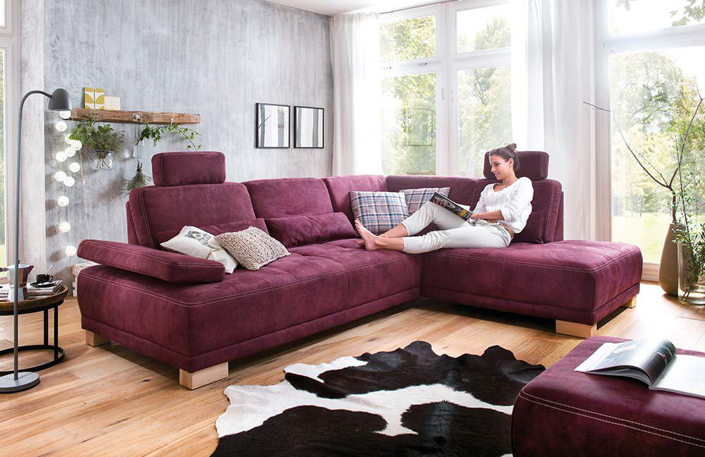 sit more caprice eckgarnitur aubergine m bel letz. Black Bedroom Furniture Sets. Home Design Ideas