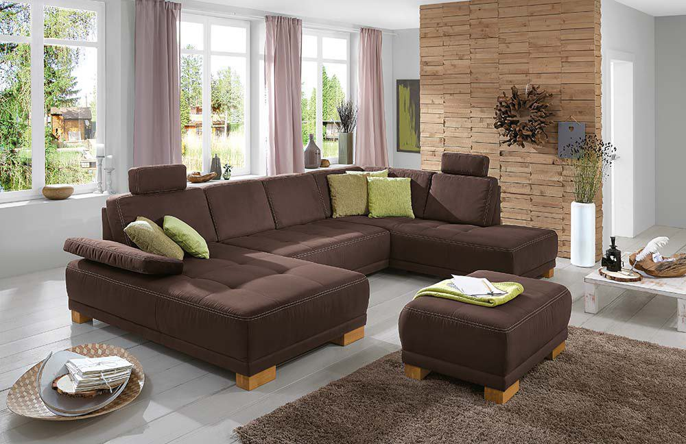 sit more caprice sofa braun m bel letz ihr online shop. Black Bedroom Furniture Sets. Home Design Ideas