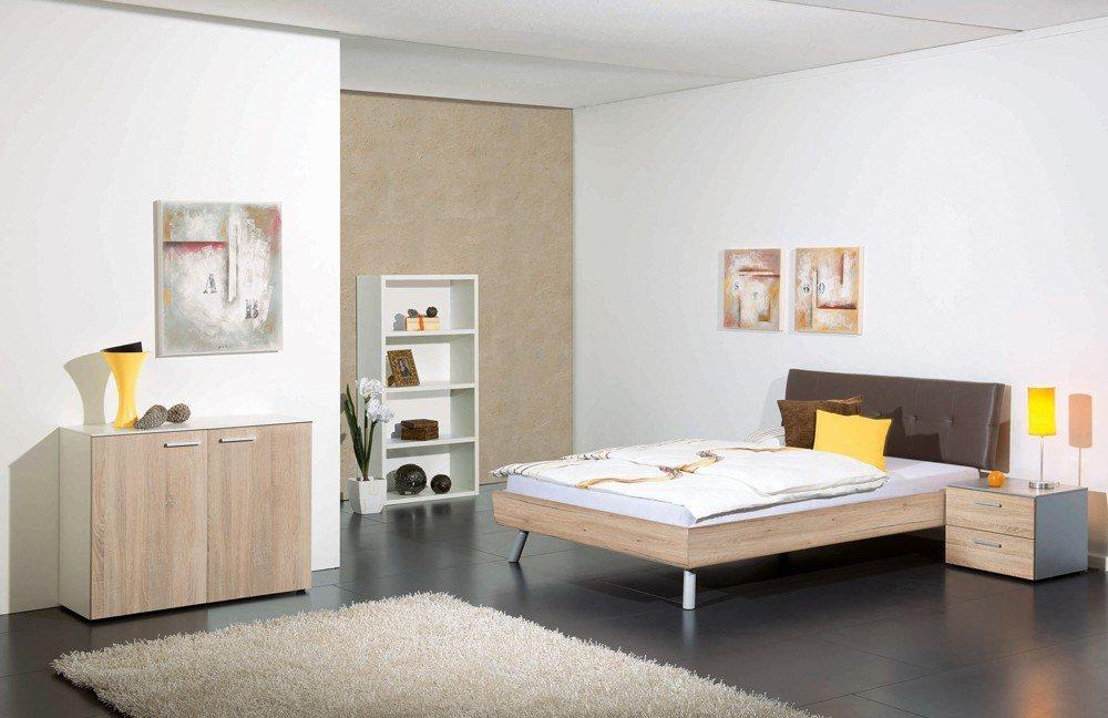 Colorado U0026 Bergamo Von Modular   Bett Sonoma Eiche Nachbildung