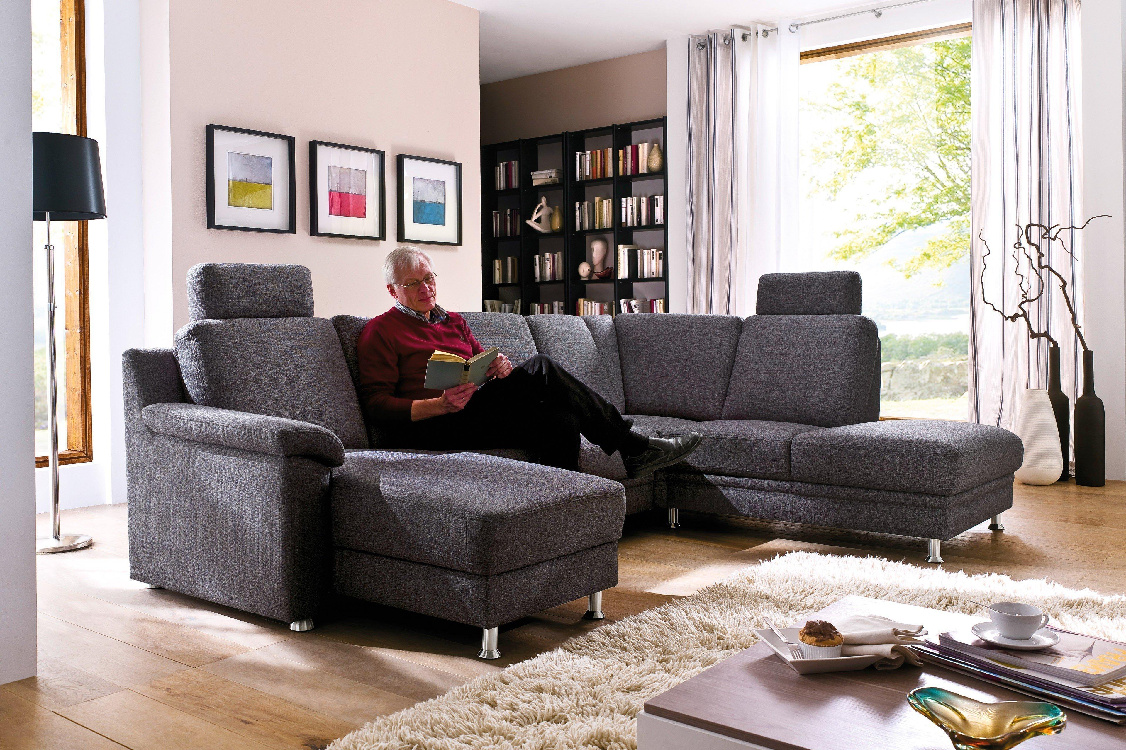 Casada Calma Wohnlandschaft in Dunkelgrau   Möbel Letz - Ihr Online-Shop