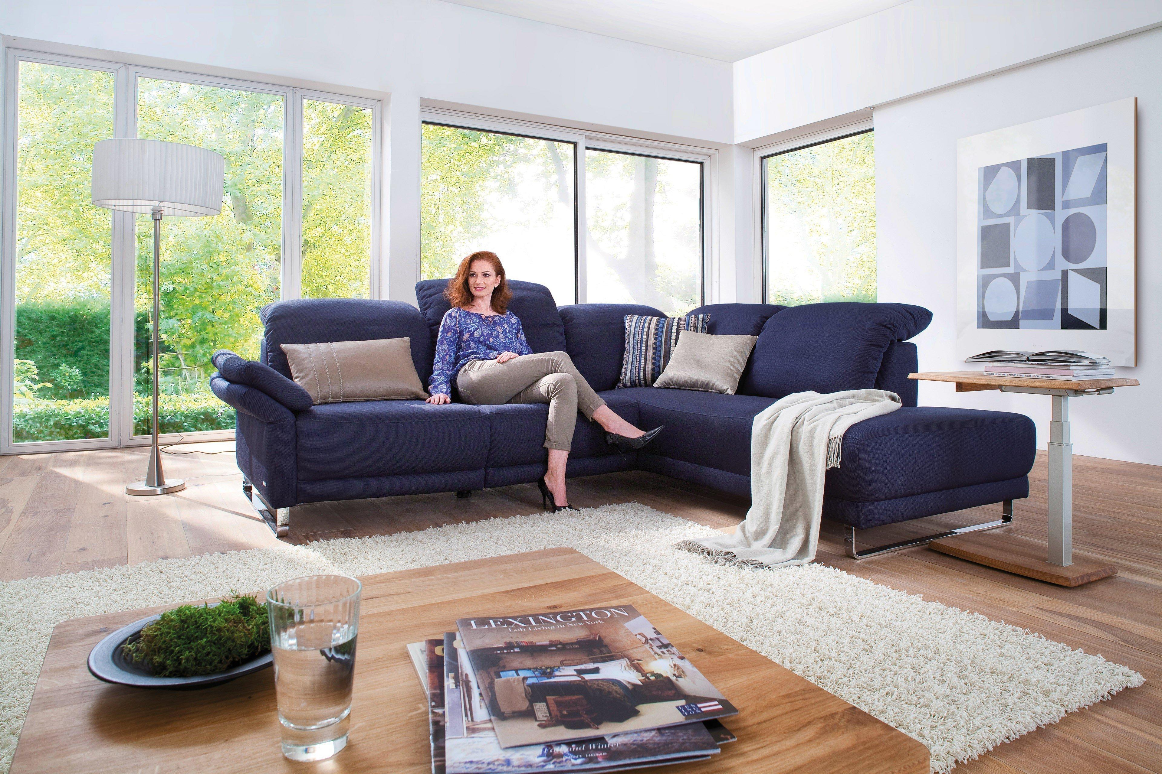 Casada 39113 Corner Ecksofa in Blau   Möbel Letz - Ihr Online-Shop