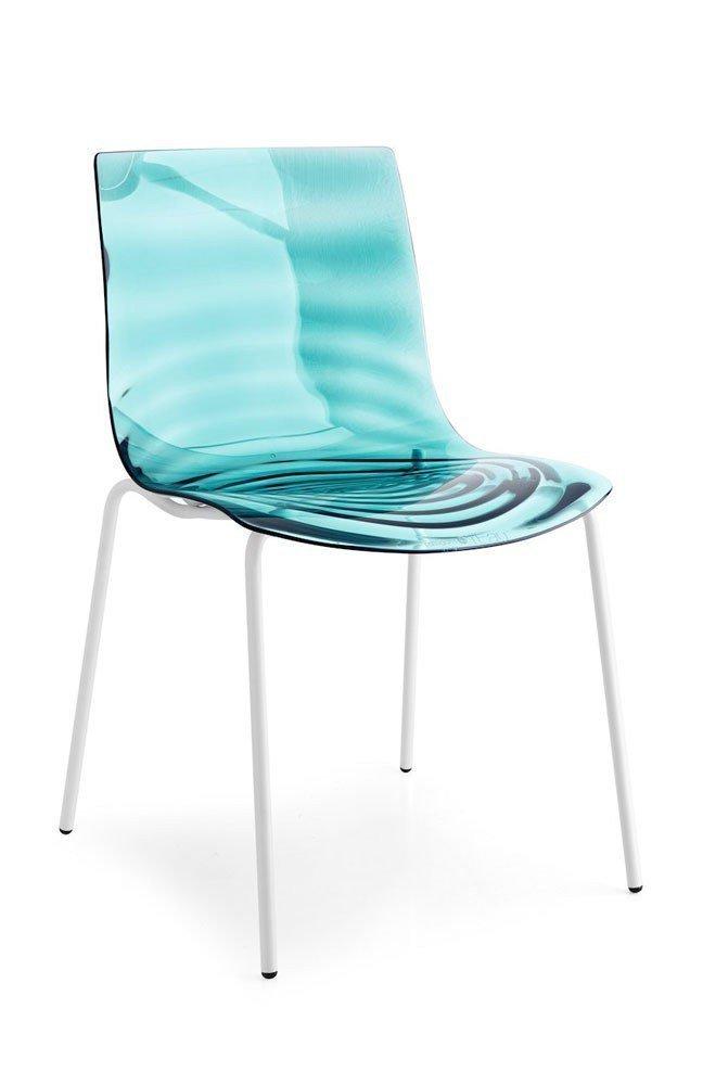 stuhl l 39 eau schneewei matt wassergr n von connubia by calligaris m bel letz ihr online shop. Black Bedroom Furniture Sets. Home Design Ideas