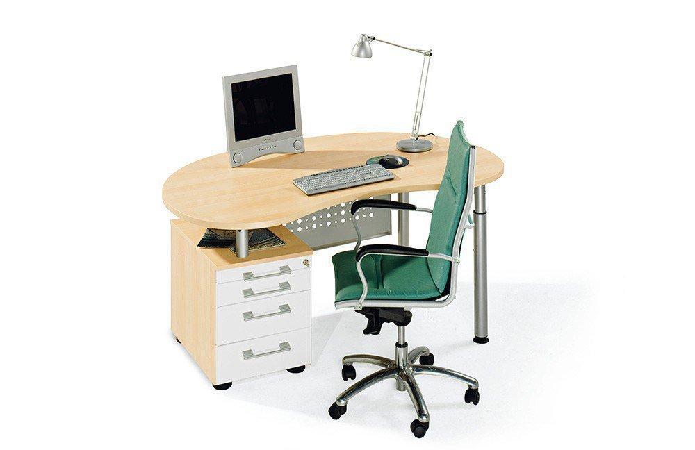 Wellemöbel Hyper Nierenschreibtisch Ahorn | Möbel Letz - Ihr Online-Shop