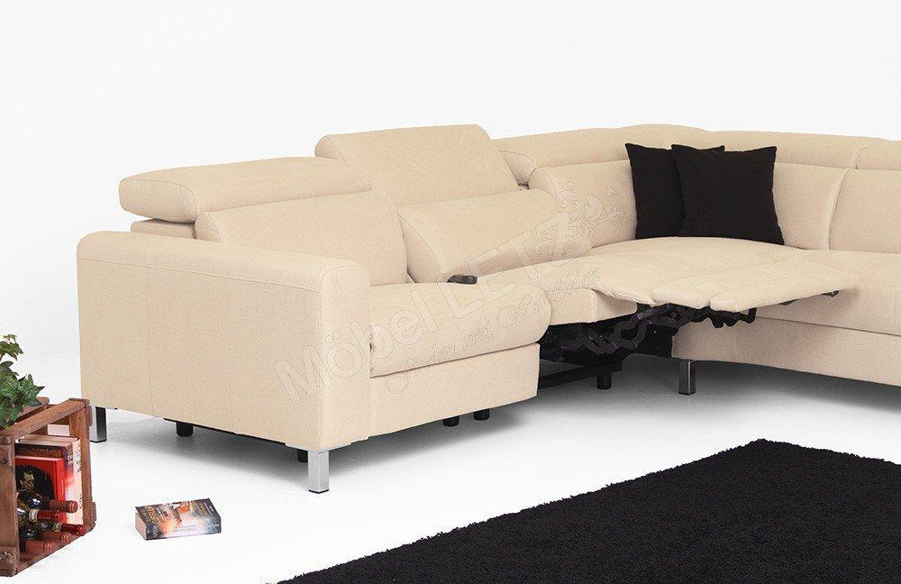Candy Lazy Ecksofa in Creme | Möbel Letz - Ihr Online-Shop
