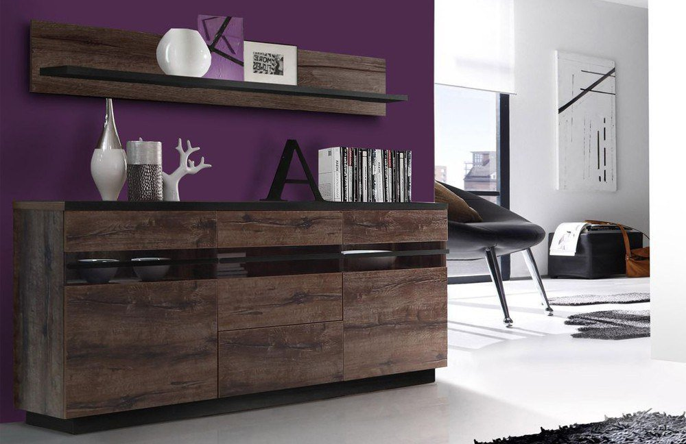sideboard abro in schlamm schwarzeiche von forte m bel. Black Bedroom Furniture Sets. Home Design Ideas