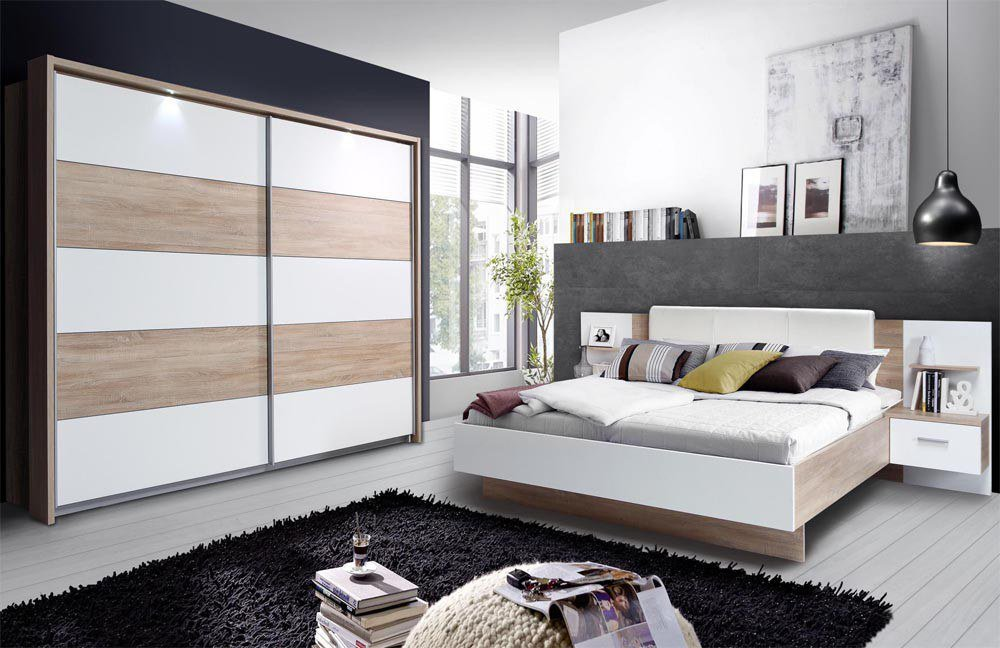 forte ginger schlafzimmer wei sonoma eiche m bel letz ihr online shop. Black Bedroom Furniture Sets. Home Design Ideas