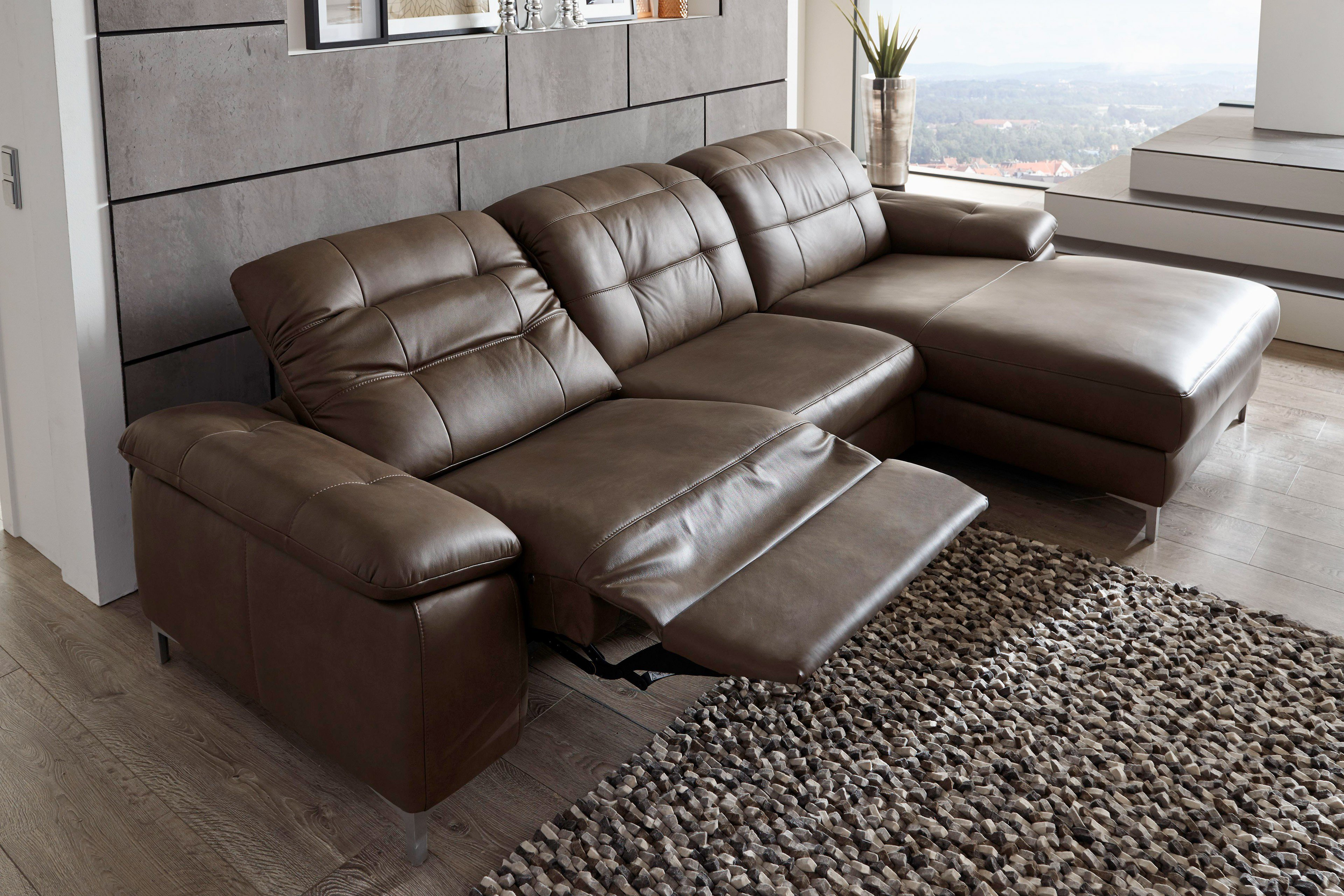 polinova nuvola ledersofa braun m bel letz ihr online shop. Black Bedroom Furniture Sets. Home Design Ideas