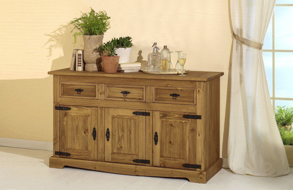 henke m bel sideboard mexican kiefer antik m bel letz ihr online shop. Black Bedroom Furniture Sets. Home Design Ideas