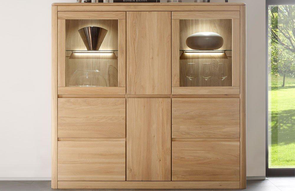 highboard 1 n 1161 870 85 von inter furn eiche bianco ge lt m bel letz ihr online shop. Black Bedroom Furniture Sets. Home Design Ideas