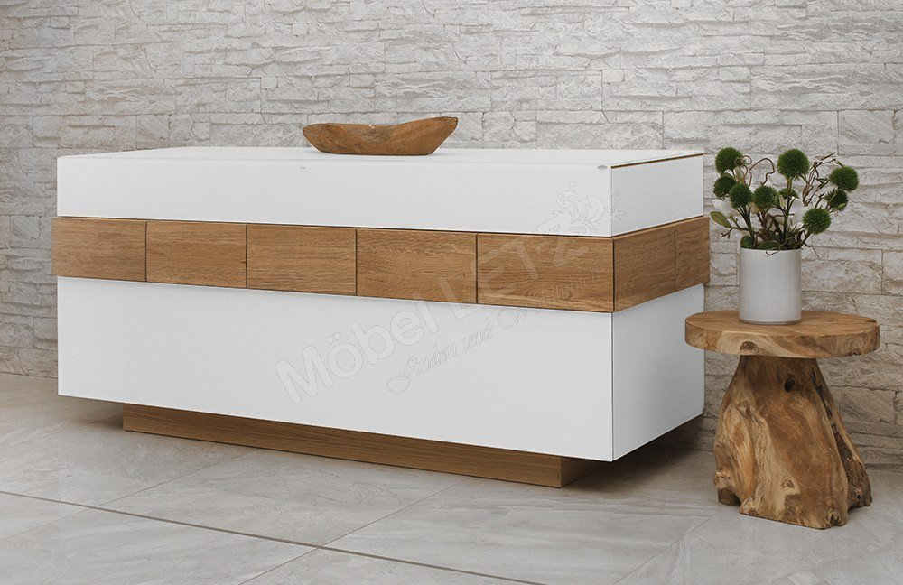 voglauer sideboard v montana 160 optiwhite wildeiche m bel letz ihr online shop. Black Bedroom Furniture Sets. Home Design Ideas