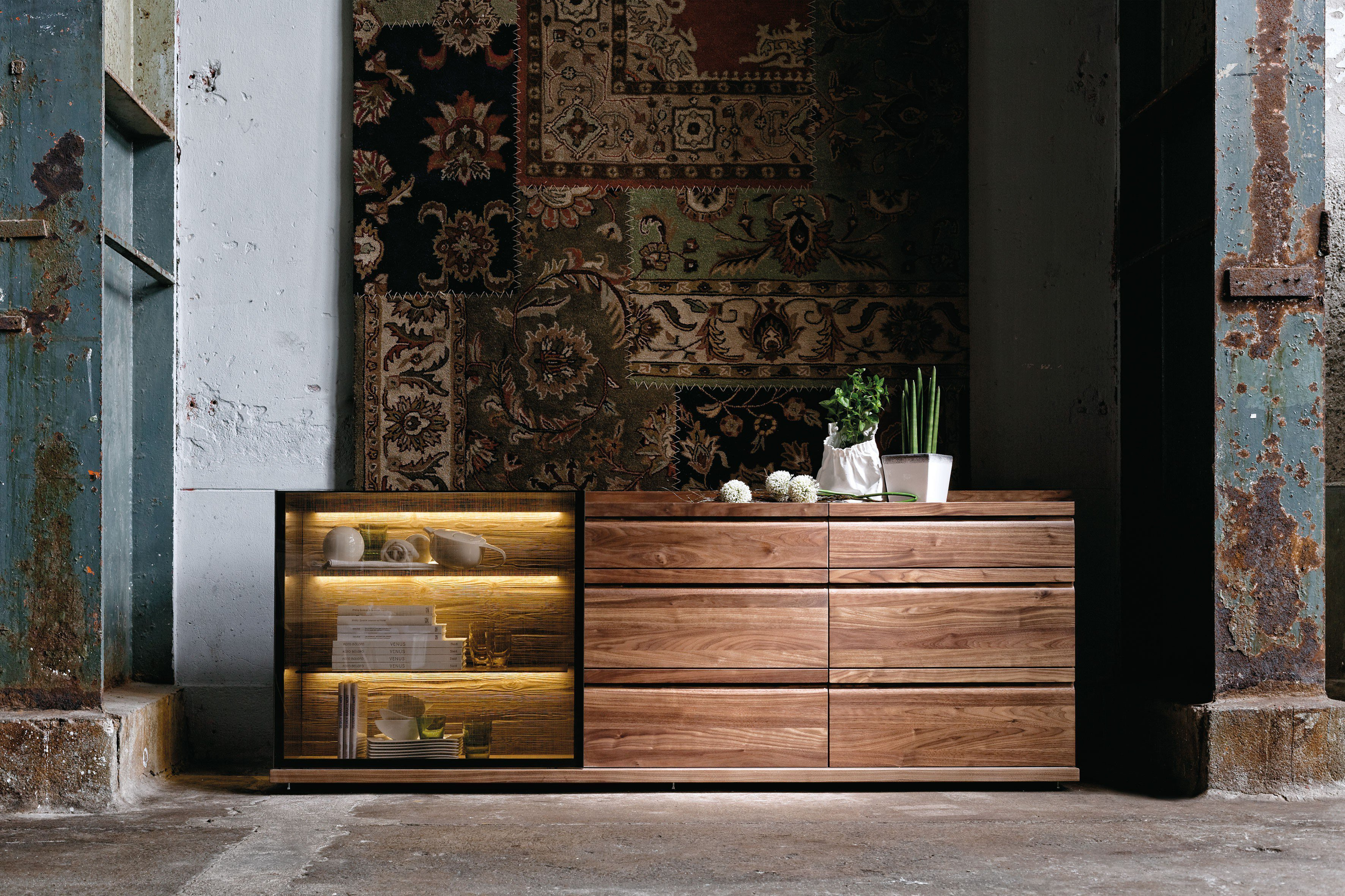 voglauer sideboard v loft ge lte wildnuss m bel letz ihr online shop. Black Bedroom Furniture Sets. Home Design Ideas