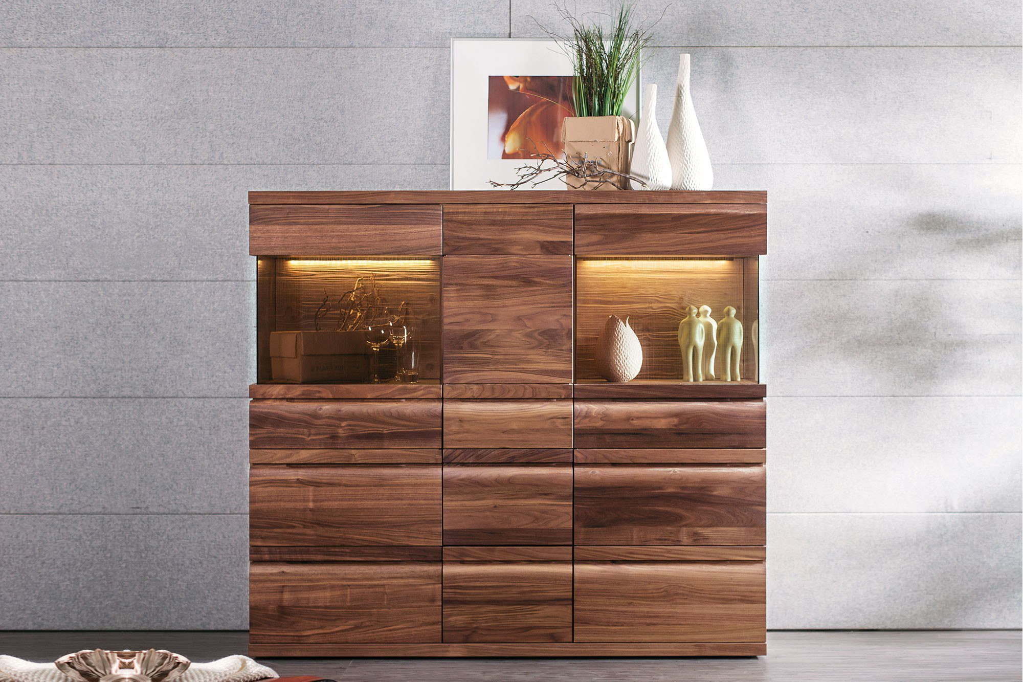 voglauer highboard v loft wildnuss ge lt m bel letz ihr online shop. Black Bedroom Furniture Sets. Home Design Ideas