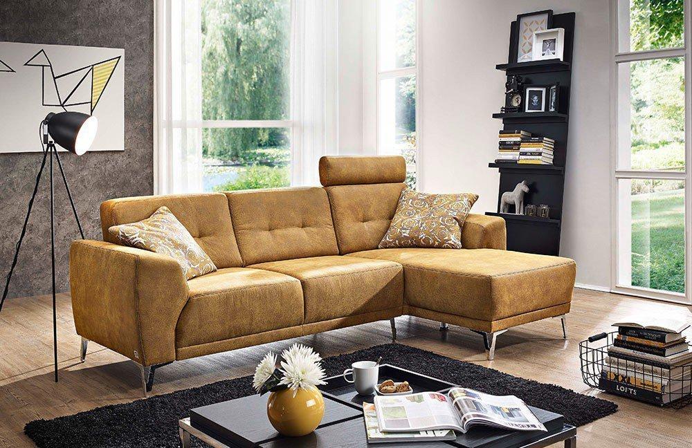f s polsterm bel 259 dallas eckgarnitur gelb m bel letz. Black Bedroom Furniture Sets. Home Design Ideas