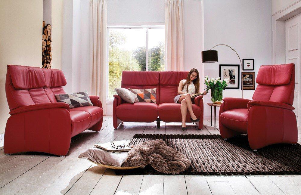 Skandinavische Möbel Hjördis Sofa-Gespann in Rot | Möbel Letz ...