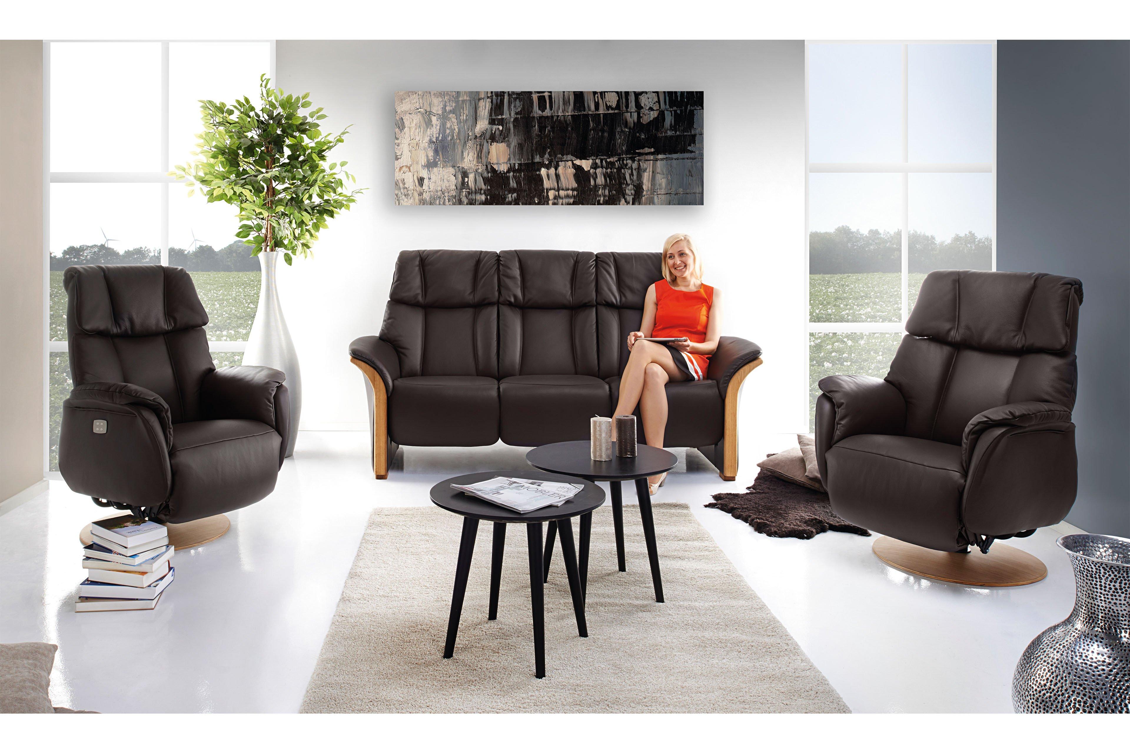 skandinavische m bel lykka einzelsofa in dunkelbraun. Black Bedroom Furniture Sets. Home Design Ideas